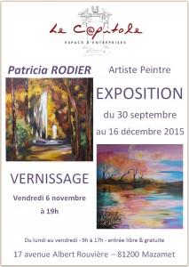Affiche expo. Patricica Rodier - 31911